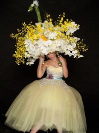 BETSEY! PS This reminds me of when Lucille Ball had to wear the headpiece down the staircase! heehee!