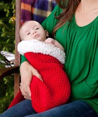 Holiday Baby Cocoon Free Crochet Pattern.