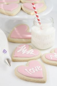 Conversation Heart Cookies by