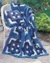 Blue and White Afghan - Crochet