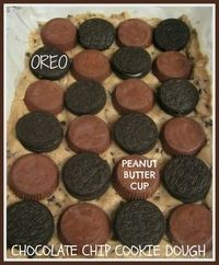 Oreo and Peanut Butter Cup Chocolate Chip Cookie Stuffed Brownies!!