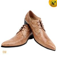 Mens Leather Lace Up Oxford Dress Shoes CW760071