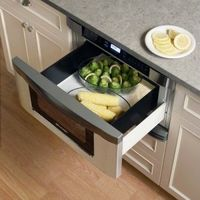 Microwave Drawer. Built in to save counter space. Brilliant!