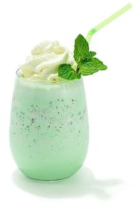 Shamrock Shake: 1 pint mint chocolate chip ice cream- 1 c. milk- 2 Tbsp. sugar...