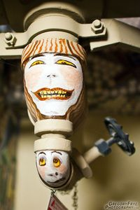 Pipe faces at McMenamin's Grand Lodge in Forest Grove, OR