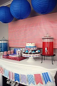 Great July 4th table #desserttable #july4th