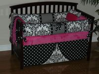 Custom Crib Baby Bedding 3pc Set Hot by CustomBabyCreations, $268.00