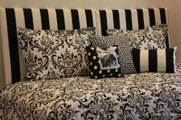 Make your Dorm Room Look Like HOME! Use two headboards to create a daybed like feel.