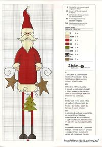 Gallery.ru / Фо�'о #33 - Rico 108, 109, 110, 111, 112, 113 - Fleur55555; Skinny legged Santa; The pattern is written in several languages, including English. Anchor color key; transpose colors if you like DMC.