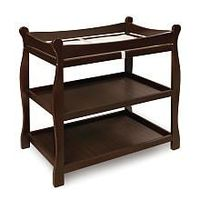 Badger Basket Sleigh Style Changing Table - Espresso