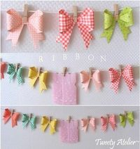 Cool paper ribbon tutorial + banner by gertrude