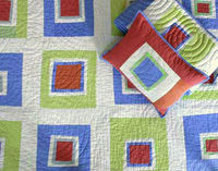 DS pretty square baby quilt