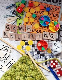 Game knitting - it turns a TV drinking game into a knitting pattern. Sounds like fun!