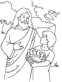 Posts similar to: Jesus Feeds 5,000 Coloring Page - Juxtapost