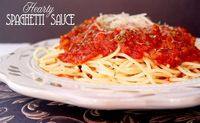 Hearty Spaghetti Sauce from Jamie Cooks It Up!...making this for dinner tonight. One of my favorites. :)