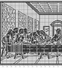 Last supper filet crochet pattern 2