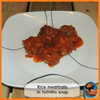 Rice meatballs in tomato soup #cooking #groundbeef #meatballs