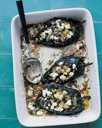 Stuffed Poblano Peppers in a Chipotle Sauce Recipe