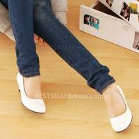 Summer Style Patent Leather Candy Colors White Round Toe Shoes