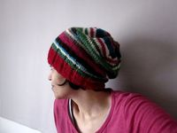 Striped Light Stashbuster Hat Easy Crown Pattern