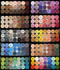 MAC eye shadow collection