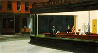Born in 1882 in New York, Edward Hopper is now recognized as one of the most influential American realist painters of the 20th century. Nighthawks, above, is undoubtedly his best-known work, and like many of his paintings has been referenced numerous time...