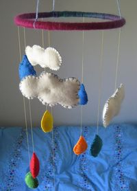 Happy Whimsical Hearts: A mobile for baby changing table?