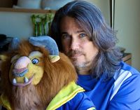 Robby Benson omgosh he has crazy. Blue eyes like beast. Coincidence? I think NOT