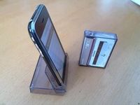 Cell phone holder with a cassette box!