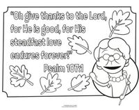 Thanksgiving Coloring Page from