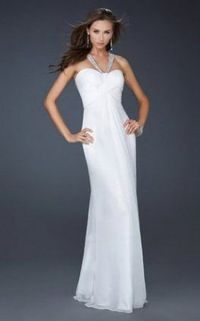 Long White Sparkly Strap Cheap Prom Dress 2013