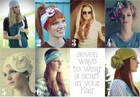 the letter 4: 7 ways to wear a scarf in your hair #scarf #hair