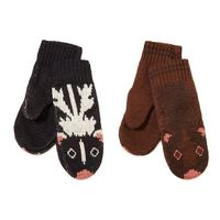 ++ RECYCLED COTTON ANIMAL MITTENS