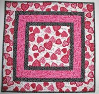 Valentine Table Topper Hearts Reversable by PicketFenceFabric, $22.95