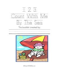 123 Count With Me By The Sea free printable