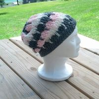 Sample Sale Toddler Size Sundae Slouch Hat Grey by TheYarnFool, $8.40