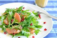 Grapefruit Salad with Pineapple Balsamic Dressing