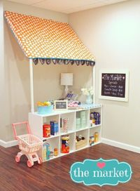 Grocery store for the girls playroom