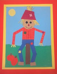 Shape Scarecrow. Collage. Grades 1/2