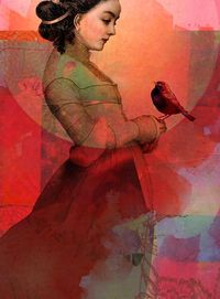 """Lady in red"" by Catrin Welz-Stein"