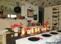 An awesome Vampire (Diaries)/Halloween-themed party. Love the details!