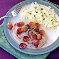 Seared Pork with Roasted Grapes