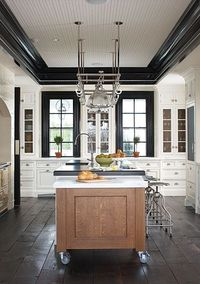 tall windows over countertop, moveable island, Dalia Kitchen Design