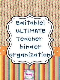 Editable Binder pages! Good TPT page