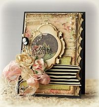 Grungy Everyday Card...with many layers & embellishments...Pickled Paper Designs.