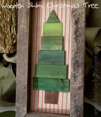 #DIY Wooden Frame and Shim {paintstick} #Christmas Tree