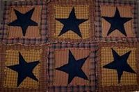 Patchwork Black Star Quitled Placemat