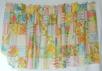Liz Taylor * Handmade vintage sheets curtains
