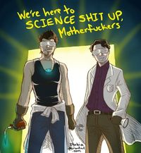 Tony Stark and Bruce Banner understand science is hardcore, yo.