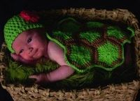 Infant Turtle Shell Photography Prop ~ free pattern